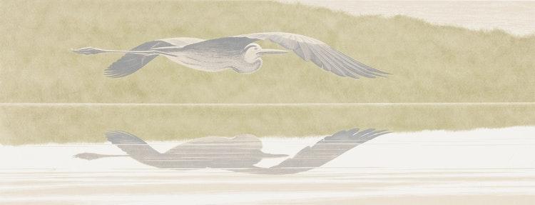Artwork by David Alexander Colville,  Heron