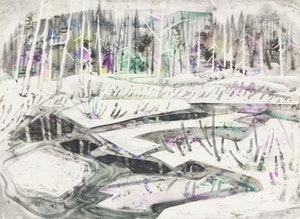 Artwork by Doris Jean McCarthy, Abstract Winter Landscape
