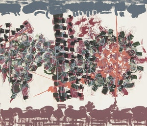 Artwork by Jean Paul Riopelle, Le Crepuscule (Le Sablier folio)