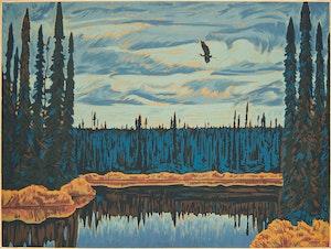 Artwork by Thoreau MacDonald, Black Spruce