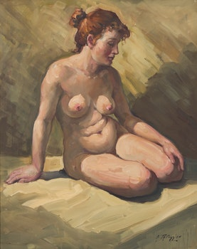 Artwork by Armand Tatossian, Seated Nude