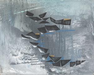 Artwork by Bobs Cogill Haworth, Reflections Against Grey