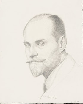 Artwork by Frederick Bourchier Taylor, Self Portrait Study with Beard; Study for a Portrait of John Kelly
