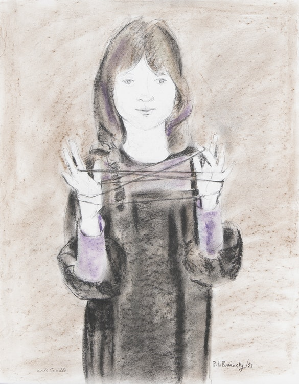 Artwork by Rita Briansky,  Young Girl; Cats Cradle