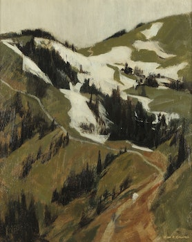 Artwork by Alan Caswell Collier, Hurricane Ridge, Olympic Mountains
