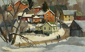 Artwork by Thomas Keith Roberts, Winter Sunlight, Kettleby