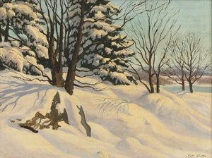 Artwork by Thomas Albert Stone, Winter, Ottawa River