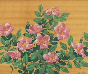 Artwork by Alfred Joseph Casson, Early Wild Roses