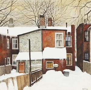 """Artwork by John Kasyn, """"Houses of Blocks"""" on Wellesley Street"""