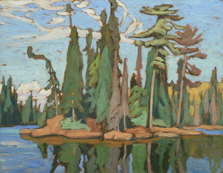 Artwork by Lawren Stewart Harris,  Algoma (Algoma Sketch 48)