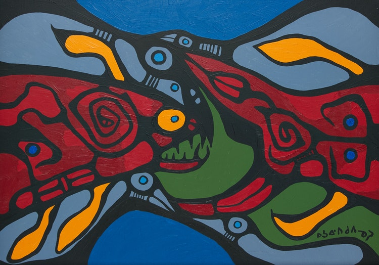 Artwork by Norval Morrisseau,  Poisson