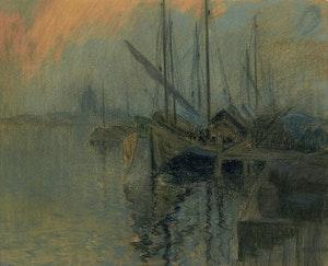 Artwork by Maurice Galbraith Cullen, Venice Harbour