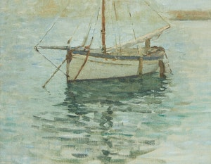 Artwork by Helen Galloway McNicoll, Moored Boat