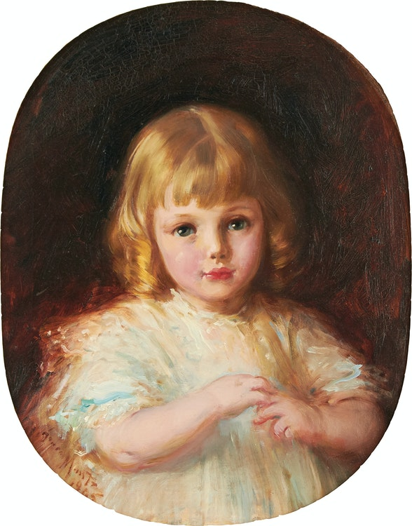 Artwork by Laura Adeline Lyall Muntz,  Portrait of a Young Girl