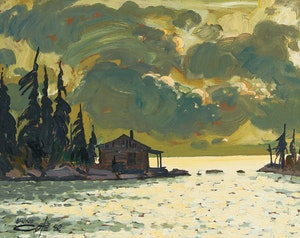 Artwork by Bruno Cote, St. Lawrence River
