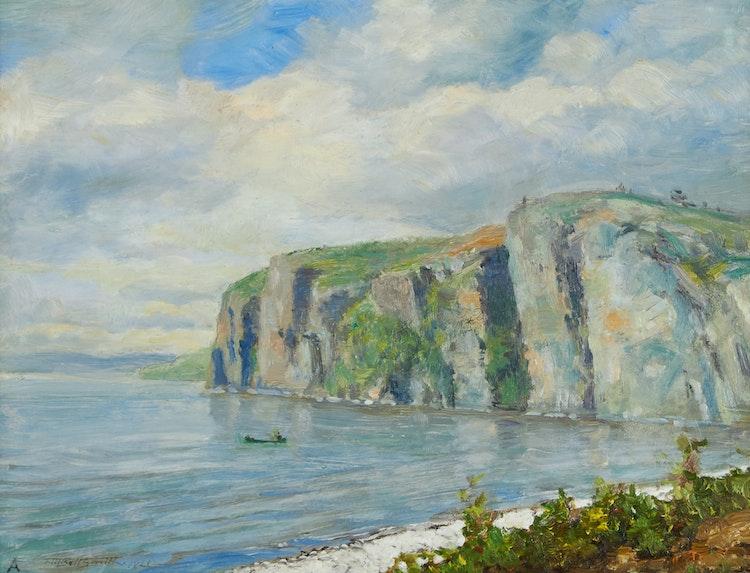 Artwork by Frederic Marlett Bell-Smith,  Bon Echo Rock (Afternoon)