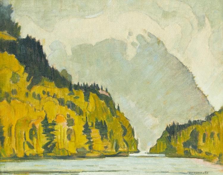 Artwork by Peter Clapham Sheppard,  Mont-Tremblant, circa 1936