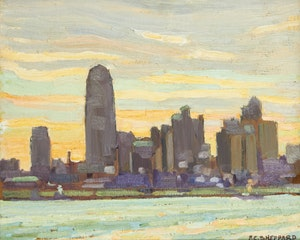 Artwork by Peter Clapham Sheppard, Toronto Skyline, circa 1932