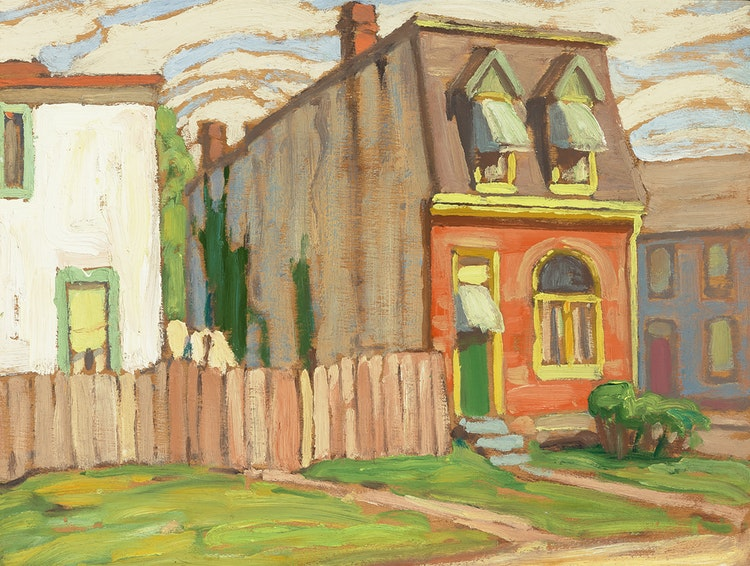 Artwork by Lawren Stewart Harris,  House, Toronto