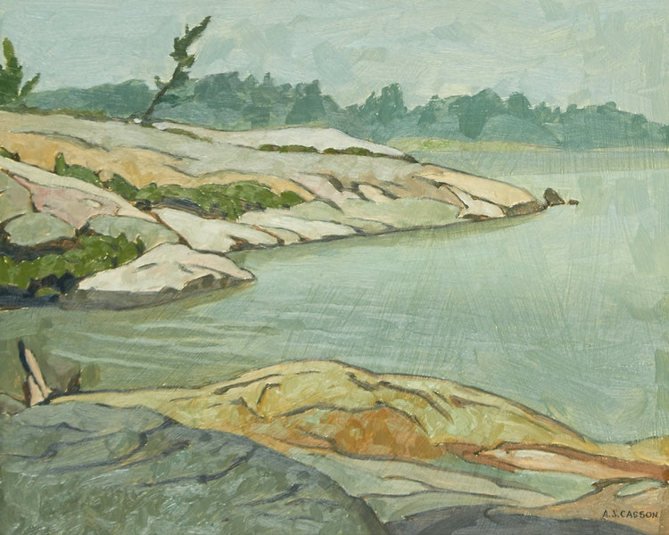 Artwork by Alfred Joseph Casson,  Jackknife Bay