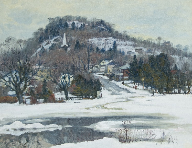 Artwork by Robert Wakeham Pilot,  Village in Winter