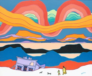 Artwork by Ted Harrison, Deserted