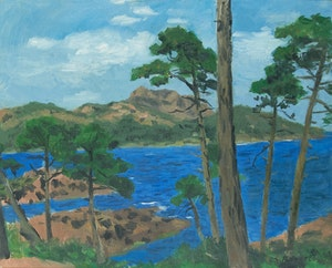 Artwork by William Goodridge Roberts, Shoreline Landscape