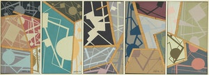 Artwork by Jean-Paul Jérôme, Five Abstract Compositions