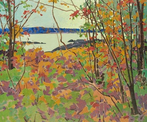Artwork by Robert Genn, October Pattern, Muskoka