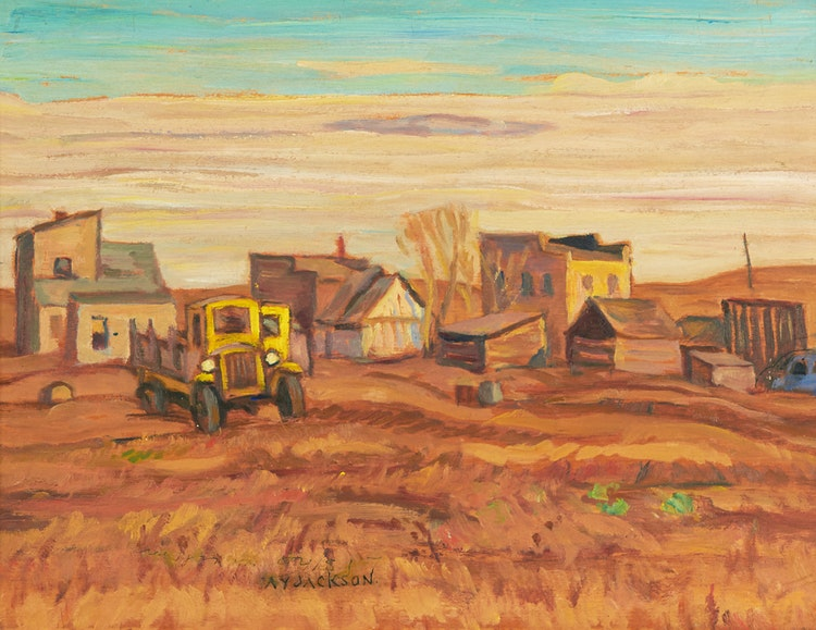 Artwork by Alexander Young Jackson,  Southern Alberta Town