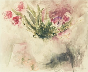 Artwork by Molly Lamb Bobak, Floral Bouquet