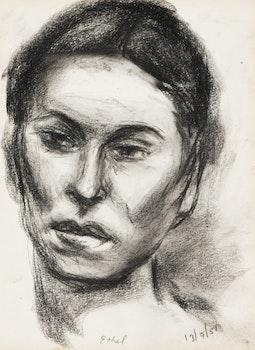 Artwork by Rita Briansky, Self Portrait; Study (Joseph); Rain; Anna in Profile; Ethel