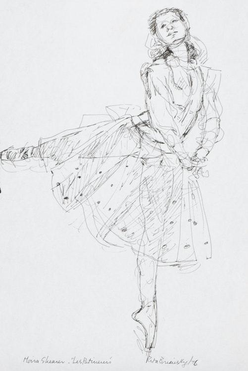 Artwork by Rita Briansky,  Marguerite; After Degas; Maria Shearer/Les Patineurs; Self Portrait