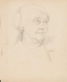 Artwork by Doris Jean McCarthy, Portrait of a Woman; Female Nude