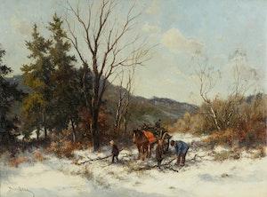 Artwork by Dorus Arts, Picking Firewood (Four Figures)