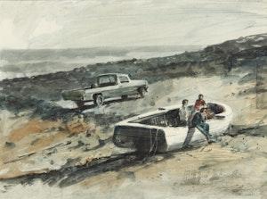 Artwork by Thomas de Vany Forrestall, Washed Ashore