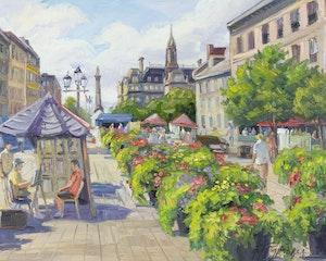 Artwork by Armand Tatossian, Promenade, Place Jacques Cartier