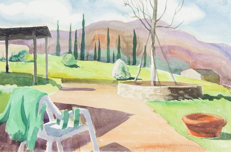 Artwork by Doris Jean McCarthy,  La Sovana