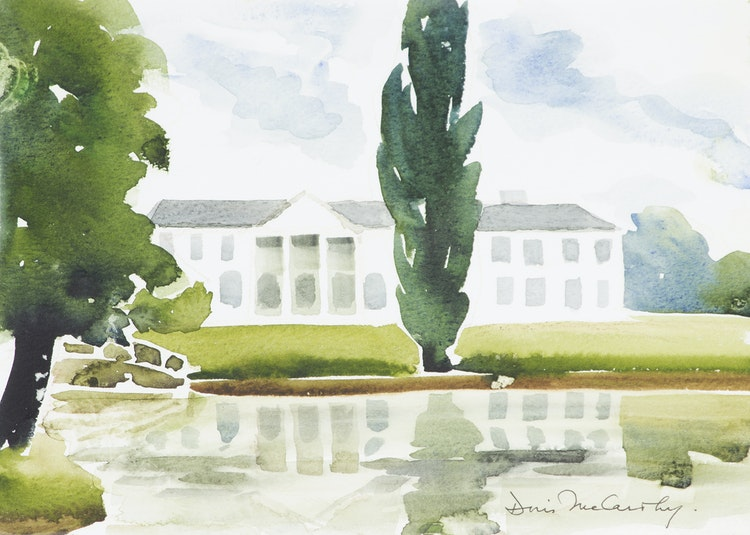 Artwork by Doris Jean McCarthy,  The Palace in Hungary, 1999