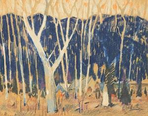 Artwork by Rene Richard, Forest Landscape
