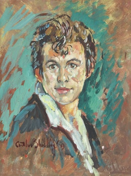 Artwork by Arthur Shilling, Self Portrait