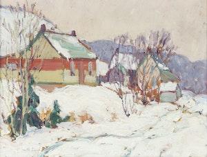 Artwork by Alice Amelia Innes, Village in Winter