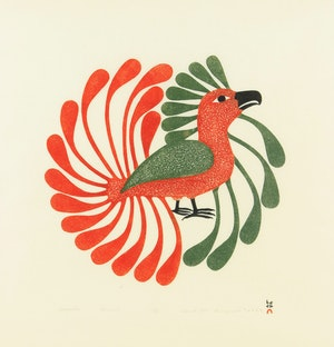 Artwork by Kenojuak Ashevak, Aoujalik (Moulting Bird)