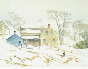 Artwork by Alfred Joseph Casson, Valley Farm; Below Ragged Falls; Village House