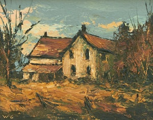 Artwork by Wilf Frank Griffiths , Old House in Mississauga; Oblong River Haliburton