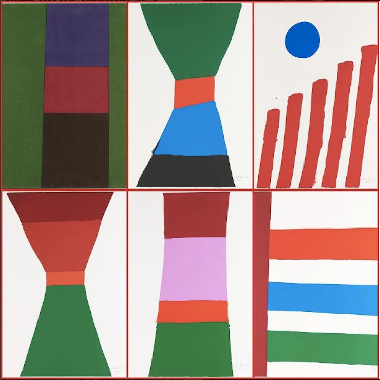 Artwork by Jack Hamilton Bush,  Five Colour Prints (1965 Portfolio)
