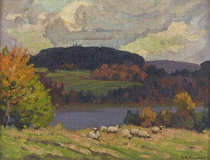 Artwork by Herbert Sidney Palmer, Storm Clouds, Le Charite, Quebec