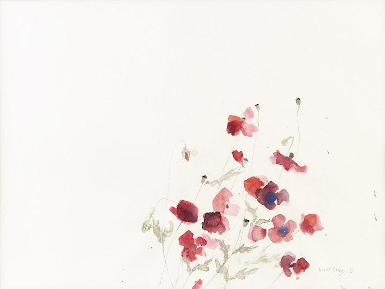 Artwork by Molly Lamb Bobak,  Poppies