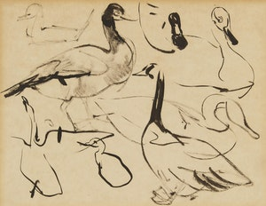 Artwork by Arthur Lismer, Ducks and Geese