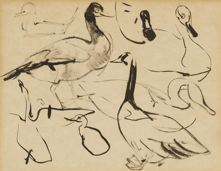 Artwork by Arthur Lismer,  Ducks and Geese